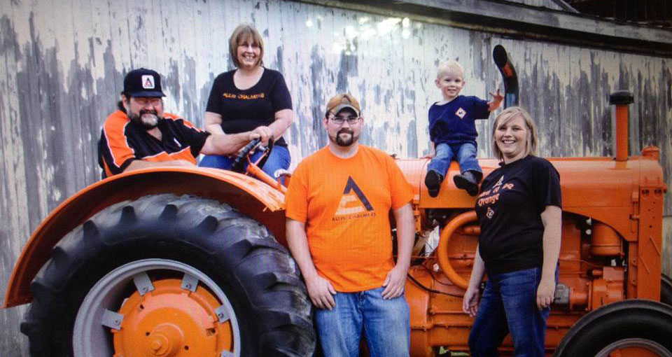 Family with Allis-Chalmers Tractor